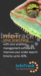 InfoTrack Promotional online banner on Legal Practice Intelligence website.
